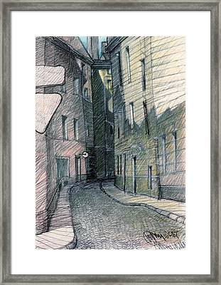 Curve Of Old City Framed Print
