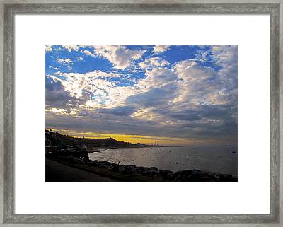 Curved Bay Framed Print