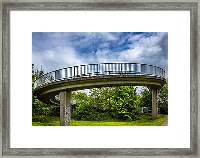 Curved Bridge. Framed Print by Gary Gillette