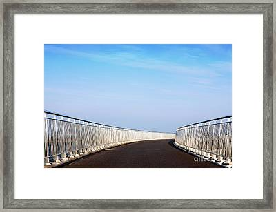 Curved Bridge Framed Print