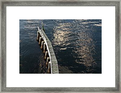 Curved Fender Las Olas Drawbridge Fort Lauderdale Florida Framed Print