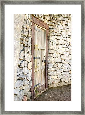 Curved Door Framed Print
