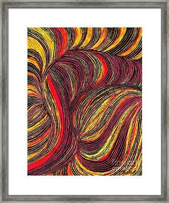 Curved Lines 3 Framed Print by Sarah Loft