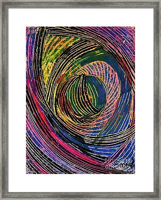 Curved Lines 6 Framed Print by Sarah Loft