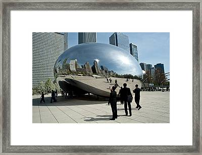 Curved Perception Framed Print
