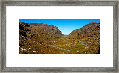 Curved Road On A Hill, Gap Of Dunlop Framed Print