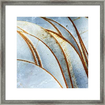 Curved Rust Framed Print