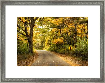 Curves Ahead Framed Print