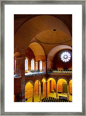 Curves And Arches Framed Print