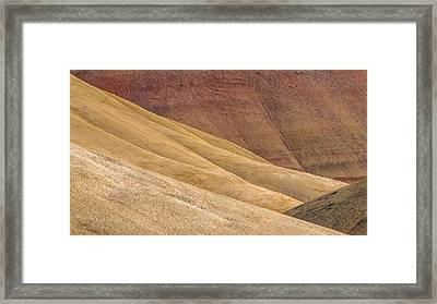 Curves And Colors Framed Print by Joe Hudspeth