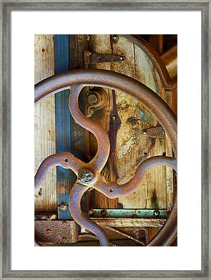 Curves And Lines Framed Print by Stephen Anderson