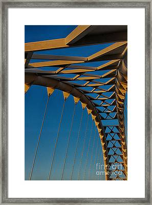 Curves And Triangles Framed Print