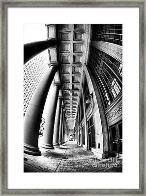 Curves At Union Station Framed Print by John Rizzuto