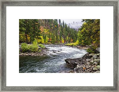 Curves Of The Wenachee Framed Print by Mark Kiver
