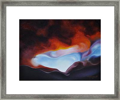 Curves On The Horizon Framed Print