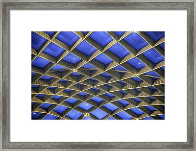 Curvilinear Skylight Structure  Framed Print by Lynn Palmer