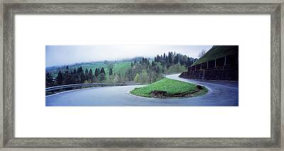 Curving Road Switzerland Framed Print by Panoramic Images