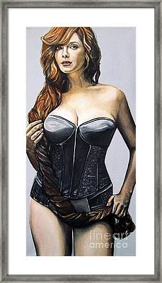 Curvy Beauties - Christina Hendricks Framed Print