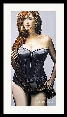 Lusciously Large Women Framed Prints