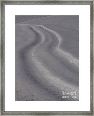 Curvy Framed Print by Jane Ford