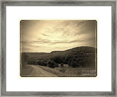 Curvy Road To Nowhere Framed Print