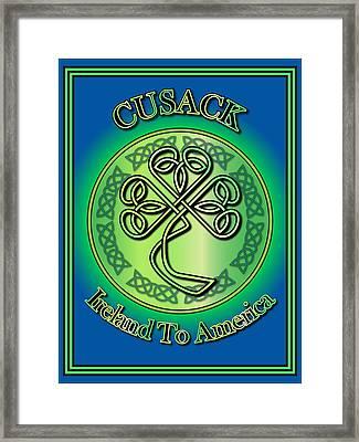 Cusack Ireland To America Framed Print