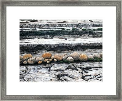 Cushion Bush Dam Framed Print by Lyndsey Hatchwell