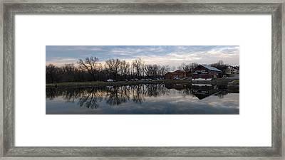Cushwa Basin C And O Canal Framed Print