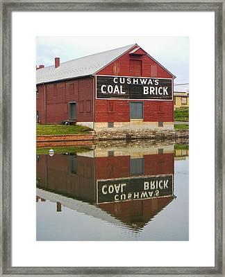 Cushwa Basin Warehouse Framed Print by Jean Goodwin Brooks