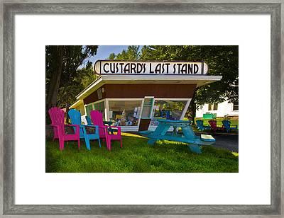 Custard's Last Stand Framed Print by Gary Warnimont