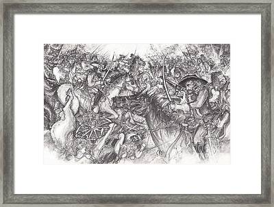 Custer's Clash Framed Print