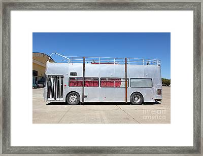 Custom Artistic Double Decker Bus 5d25357 Framed Print by Wingsdomain Art and Photography