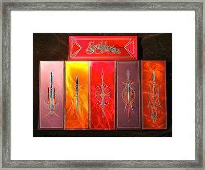 Custom Brush Boxes  Framed Print