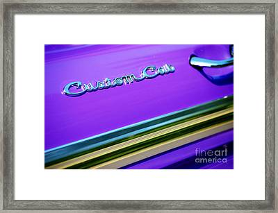 Framed Print featuring the photograph Custom Cab by Christiane Hellner-OBrien