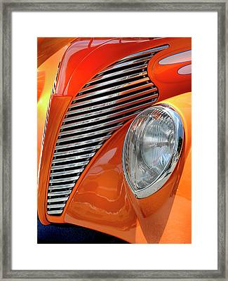 Framed Print featuring the photograph Custom Car Detail by Dave Mills