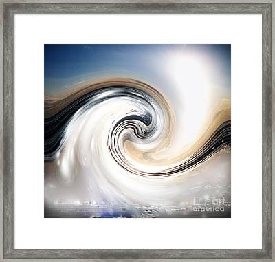 Custom Chrome Wave Framed Print by Jeffery Fagan