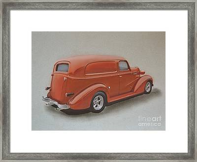Custom Delivery Truck Framed Print