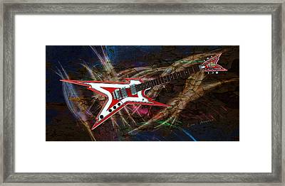 Custom Guitar  Framed Print