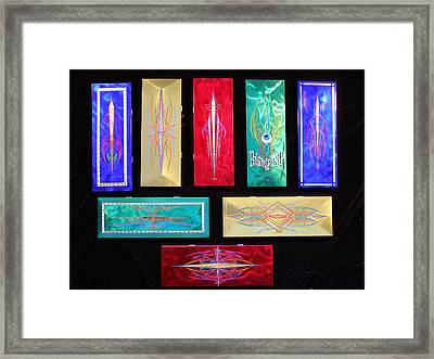 Custom Hand Painted Brush Boxes Framed Print