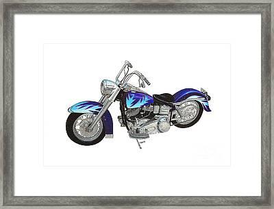 Custom Harley Framed Print