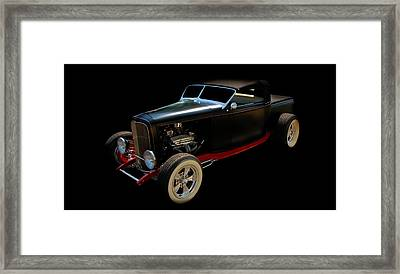 Old Car Framed Print featuring the photograph Custom Hot Rod by Aaron Berg