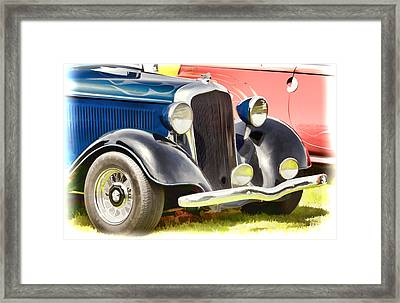 Custom Hot Rod Framed Print by Ron Roberts