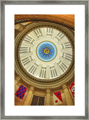 Custom House Dome Framed Print by Joann Vitali