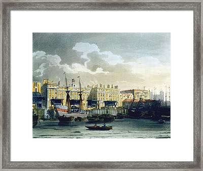 Custom House From The River Thames Framed Print