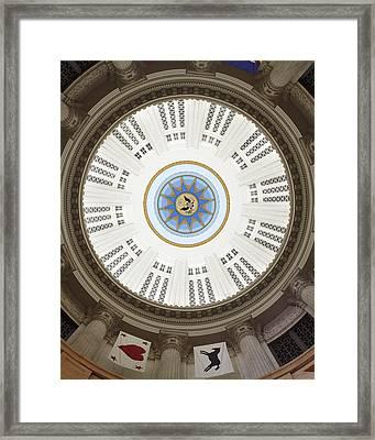 Custom House Tower Ceiling Boston Framed Print