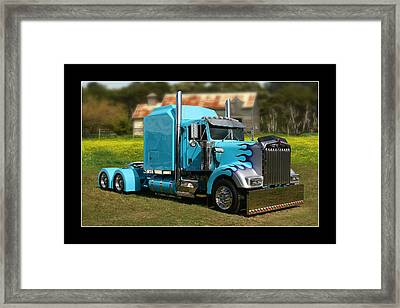 Framed Print featuring the photograph Custom Kenworth by Keith Hawley