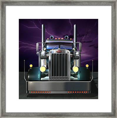 Custom Peterbilt 3 Framed Print