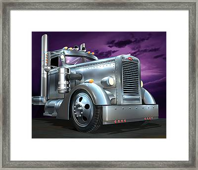 Custom Peterbilt Silver Ghost Framed Print