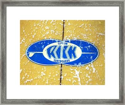 Custom Rick Surfboards Framed Print by Ron Regalado