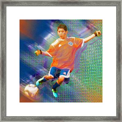 Custom Sport Portrait Family 3 Boy 1 Framed Print